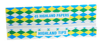 Highland Rolling Paper Rizla and Smoking Tips