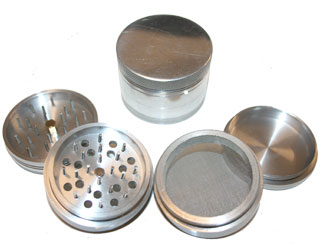 4 Part Aluminium Space Polinator Magnetic Grinder 50 mm