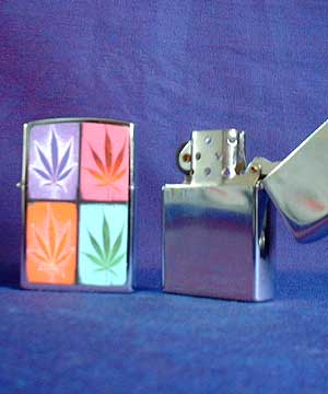 Classic Lighter with Cannabis Leaf